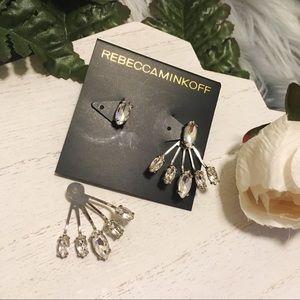 Rebecca Minkoff Jewelry - REBECCA MINKOFF Crystal Ear Jackets